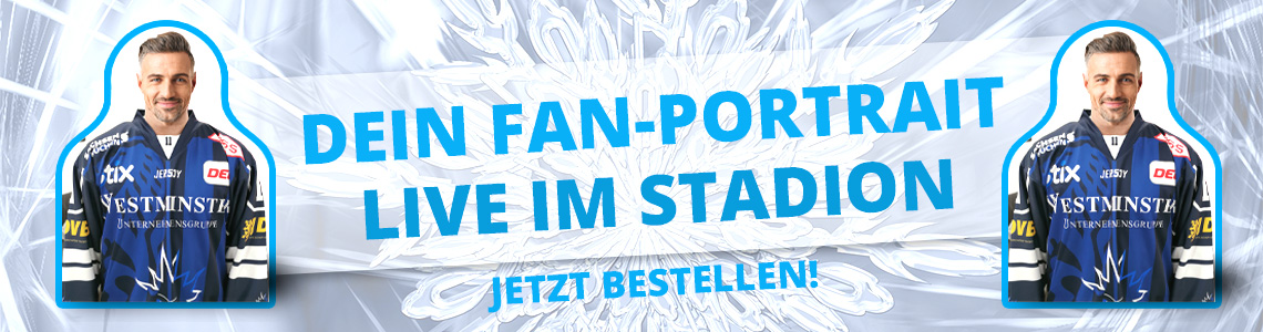 Fan Portrait Pappausteller